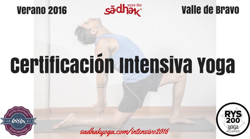 Certificación Intensiva Yoga